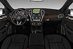 Stock photo of straight dashboard view of 2017 Mercedes Benz GLE-Class GLE300d 5 Door SUV Dashboard