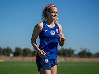 ORLANDO, FL - JANUARY 20: Jaelin Howell #26 of the USWNT looks to the ball during a training session at the practice fields on January 20, 2021 in Orlando, Florida.