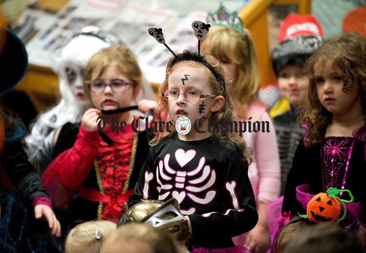Looking on at the Clare Champion Halloween Party for Ennis NS and Holy family school children. Photograph by John Kelly.