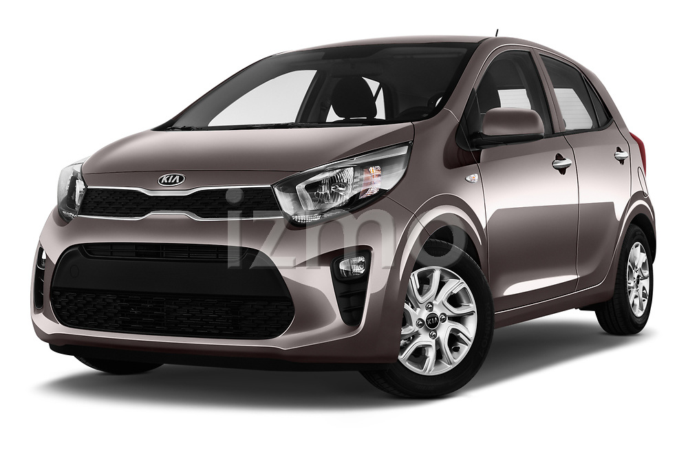 Stock pictures of low aggressive front three quarter view of 2017 KIA Picanto Fusion 5 Door Hatchback