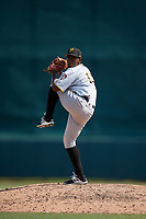 Pittsburgh Pirates pitcher Samuel Reyes (36) delivers a pitch during an Instructional League game against the Baltimore Orioles on September 27, 2017 at Ed Smith Stadium in Sarasota, Florida.  (Mike Janes/Four Seam Images)