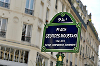 Inauguration Place Georges Moustaki - 23/5/2017 - Paris - France