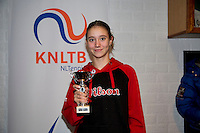 November 30, 2014, Almere, Tennis, Winter Youth Circuit, WJC,  Prizegiving, Birgit Heijnemans girls 14 years 6 th place<br /> Photo: Henk Koster