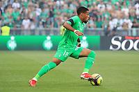 25th September 2021; Saint-Etienne Stade Geoffroy Guichard, France; AS Saint-Etienne versus OGC Nice; Arnaud NORDIN breaks towards gal on the ball