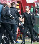 07.04.2019 Motherwell v Rangers: Stephen Robinson at Full Time