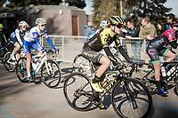 eventual winner Annemiek Van Vleuten (NED/Mitchelton-Scott) at the race roll-out<br /> <br /> 13th Strade Bianche 2019 (1.UWT)<br /> One day race from Siena to Siena (136km)<br /> <br /> ©kramon