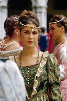 - Venice, parade in historical dresses during the regatta of the ancient Repubbliche Marinare....- Venezia, sfilata in costume durante la regata delle antiche Repubbliche Marinare