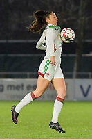 OHL's Amber Tysiak (3) pictured during a female soccer game between  AA Gent Ladies and Oud Heverlee Leuven on the 9th matchday of the 2020 - 2021 season of Belgian Scooore Womens Super League , friday 11 th of December 2020  in Oostakker , Belgium . PHOTO SPORTPIX.BE | SPP | DIRK VUYLSTEKE