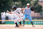 #3 Ono Ayumi of Japan runs after bating during the BFA Women's Baseball Asian Cup match between Japan and India at Sai Tso Wan Recreation Ground on September 6, 2017 in Hong Kong. Photo by Marcio Rodrigo Machado / Power Sport Images