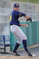 Montgomery Biscuits Matt Moore #36 warms up before a game against  the Tennessee Smokies at Smokies Park in Kodak,  Tennessee;  April 13, 2011.  Tennessee defeated Montgomery 12-2.  Photo By Tony Farlow/Four Seam Images