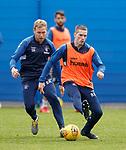 03.05.2019 Rangers training: Scott Arfield and Ryan Kent