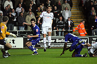 Pictured: Angel Rangel of Swansea City in action<br /> <br /> Re: Coca Cola Championship, Swansea City Football Club v Birmingham City at the Liberty Stadium, Swansea, south Wales Friday 21 November 2008.<br /> Picture by D Legakis Photography (Athena Picture Agency), Swansea, 07815441513