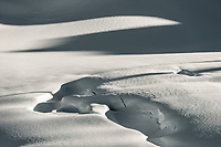 Crevasses with shadows and light on Fox Glacier NEVE, Westland Tai Poutini National Park, West Coast, UNESCO World Heritage Area, New Zealand, NZ