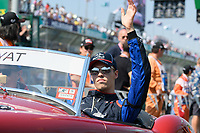 March 17, 2019: Daniil Kvyat (RUS) #26 from the Red Bull Toro Rosso Honda team waves to the crowd during the drivers parade prior to the start of the 2019 Australian Formula One Grand Prix at Albert Park, Melbourne, Australia. Photo Sydney Low