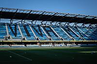 SAN JOSE, CA - SEPTEMBER 16: Earthquakes Stadium during a game between Portland Timbers and San Jose Earthquakes at Earthquakes Stadium on September 16, 2020 in San Jose, California.