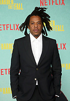 LOS ANGELES, CA - OCTOBER 13: Jay-Z, at the Special Screening Of The Harder They Fall at The Shrine in Los Angeles, California on October 13, 2021. Credit: Faye Sadou/MediaPunch