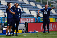 Huddersfield Town manager Danny Cowley and assistant Nicky Cowley react<br /> <br /> Photographer Alex Dodd/CameraSport<br /> <br /> The EFL Sky Bet Championship - Huddersfield Town v Wigan Athletic - Saturday 20th June 2020 - John Smith's Stadium - Huddersfield <br /> <br /> World Copyright © 2020 CameraSport. All rights reserved. 43 Linden Ave. Countesthorpe. Leicester. England. LE8 5PG - Tel: +44 (0) 116 277 4147 - admin@camerasport.com - www.camerasport.com