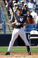 New York Yankees first baseman Mark Teixeira #25 at bat during a scrimmage against the USF Bulls at Steinbrenner Field on March 2, 2012 in Tampa, Florida.  New York defeated South Florida 11-0.  (Mike Janes/Four Seam Images)
