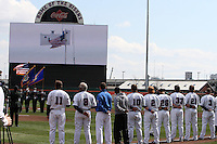 Buffalo Bisons new scoreboard before a game against the Syracuse Chiefs at Dunn Tire Park on April 7, 2011 in Buffalo, New York.  Syracuse defeated Buffalo 8-5.  Photo By Mike Janes/Four Seam Images