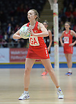 Wales Sara Bell <br /> <br /> Swansea University International Netball Test Series: Wales v New Zealand<br /> Ice Arena Wales<br /> 08.02.17<br /> ©Ian Cook - Sportingwales