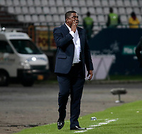 MANIZALES - COLOMBIA, 03-02-2018:Hubert Bodhert director técnico del Once Caldas , Acción de juego entre los equipos Once Caldas y Jaguares de Córdoba por la fecha 1 de la Liga Águila II 2018 jugado en el estadio Palonegro de la ciudad de Manizales. /  Hubert Bodhert coach of Once Caldas .Action game between  Once Caldas and  Jaguares de Cordoba during match for the date 1 of the Aguila League I 2018 played at Palonegro stadium in Manizales city. Photo: VizzorImage/ Santiago Osorio / Contribuidor