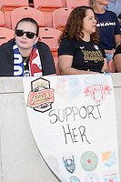 Houston, TX - Sunday Oct. 09, 2016: Fans prior to the National Women's Soccer League (NWSL) Championship match between the Washington Spirit and the Western New York Flash at BBVA Compass Stadium. The Western New York Flash win 3-2 on penalty kicks after playing to a 2-2 tie.