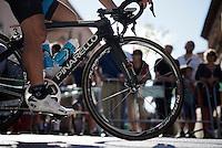 Sergio Henao (COL/SKY) to the start<br /> <br /> stage 21: Alcala de Henares - Madrid (98km)<br /> 2015 Vuelta à Espana