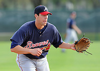 17 March 2009: Greg Creek of the Atlanta Braves at Spring Training camp at Disney's Wide World of Sports in Lake Buena Vista, Fla. Photo by:  Tom Priddy/Four Seam Images