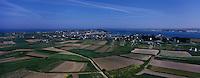 Europe/France/Bretagne/29/Finistère/Ile de Batz : L'Ile vue depuis le phare