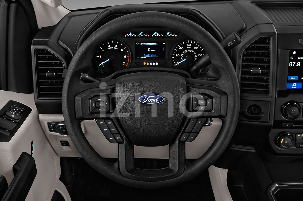 Car pictures of steering wheel view of a 2018 Ford F-150 XL-SuperCrew 4 Door Pickup Steering Wheel