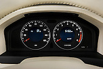 Instrument panel close up detail view of a 2008 Volvo XC 70