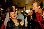 RockaBilly youth sub culture London Tottenham Court Road London Pub. Elvis Presley fans with Teddy Boy hairstyle look. 1990s UK