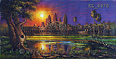 Interlitho, LANDSCAPES, LANDSCHAFTEN, PAISAJES, paintings+++++,angkor wat temple, cambo,KL4478,#L# #161# ,puzzles