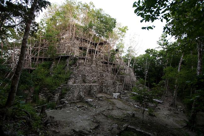 "Top of the pyramid ""La Danta"" at archeological site El Mirador."