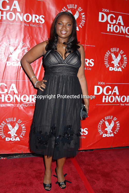 """Jennife Hudson, who is in the movie """"Dreamgirls"""" ..arriving at The DGA Honors, which honors outstanding individuals and institutions to the film and television    industry, on October 12, 2006 at The Directors Guild of ..America Theatre in New York City. ..Robin Platzer, Twin Images.."""