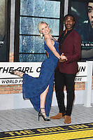"Joanne Clifton and Ore Oduba<br /> at the premiere of ""The Girl on the Train"", Odeon Leicester Square, London.<br /> <br /> <br /> ©Ash Knotek  D3156  20/09/2016"