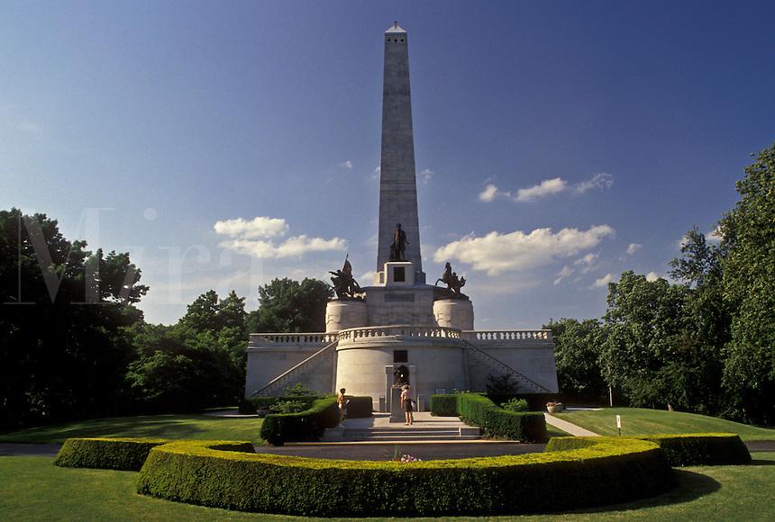 Abraham Lincoln, Springfield, IL, Illinois, The Lincoln Tomb at Oak Ridge Cemetery in Springfield.