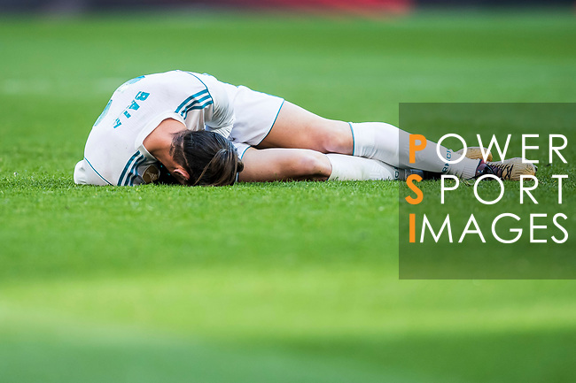 Gareth Bale of Real Madrid lies injured on the pitch during the La Liga 2017-18 match between Real Madrid and RC Deportivo La Coruna at Santiago Bernabeu Stadium on January 21 2018 in Madrid, Spain. Photo by Diego Gonzalez / Power Sport Images
