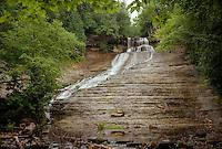 (Film) A summertime view of the impressive Laughing Whitefish Falls. Sundell, MI - Kodak Ektar 100 film