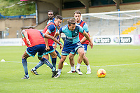 Matt Bloomfield of Wycombe Wanderers during the Open Training Session in front of supporters during the Wycombe Wanderers 2016/17 Team & Individual Squad Photos at Adams Park, High Wycombe, England on 1 August 2016. Photo by Jeremy Nako.