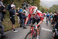 Carl Fredrik Hagen (NOR/Lotto-Soudal) up the infamous (and crowded) Muro di Sormano (avg 17%/max 25%)<br /> <br /> 113th Il Lombardia 2019 (1.UWT)<br /> 1 day race from Bergamo to Como (ITA/243km)<br /> <br /> ©kramon