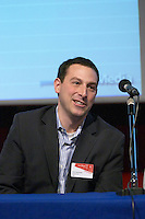Steve Olechowski, COO and co-founder of FeedBurner, at the Les Blog conference in Paris December 2005 on blogging, new media and internet strategy