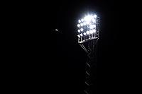 8th September 2020; Abbey Stadium, Cambridge, Cambridgeshire, England; EFL Trophy  Football, Cambridge United versus Fulham Under 21; A football goes past a flood light at the Abbey Stadium