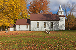 A country church on a beautiful autumn day in northern Wisconsin.