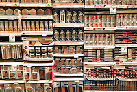 Cosmetics display in a store