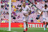 29th August 2021; Nou Camp, Barcelona, Spain; La Liga football league, FC Barcelona versus Getafe; Sandro celebrates after scoring his goal