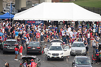 NASHVILLE, TN - SEPTEMBER 5: American Outlaws tailgate before a game between Canada and USMNT at Nissan Stadium on September 5, 2021 in Nashville, Tennessee.