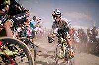 Mark Cavendish (GBR/Dimension Data) on pavé sector #2<br /> <br /> Stage 9: Arras Citadelle > Roubaix (154km)<br /> <br /> 105th Tour de France 2018<br /> ©kramon