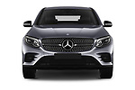 Car photography straight front view of a 2017 Mercedes Benz GLC-Coupe 220-D 5 Door SUV Front View