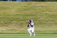 20th November 2020; John Davies Oval, Queenstown, Otago, South Island of New Zealand. West Indies Kemar Roach catches NZ A's Rachin Ravindra during New Zealand A versus  West Indies